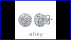 1/10 CT. T. W. Genuine Natural Diamond 9.3 mm Stud Earrings with extra shine