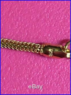 100% Authentic Genuine 22 Gold 16 Chain/ Necklace/Men & Women