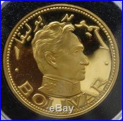 1389 Ae 1389/1970 Sharjah 100 Riyals Simon Bolivar Gold Coin