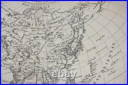 1780 Rigobert Bonne Map Asia India China Japan North South Korea Australia