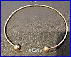 18 carat gold torque bangle 4.38g small wrist size