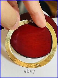 18K 750 Fine Saudi Gold 7.5 Long Womens Herringbone Bracelet With 6g 6mm