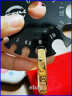 18K /750 Real Fine Gold Handmade Womens Bangle 18cm 7-7.5 Fits Med-LG 9.1g 6mm