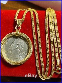 18K 750 Saudi Gold 18 Long Womens Hoops Necklace 2mm USA Seller