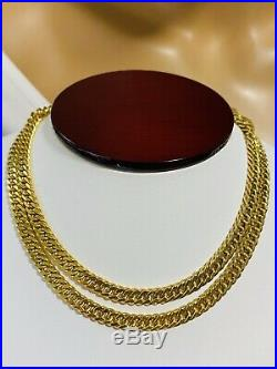 18K 750 Yellow Gold Curb Mens Real Chain Necklace 24 Long 5.5mm 16.03g