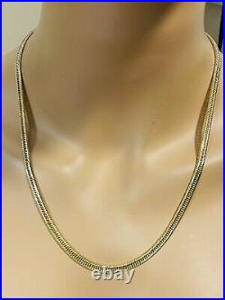 18K 750 Yellow Real Saudi UAE Gold Mens Womens Curb Necklace 22 5mm 13.98grams