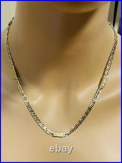 18K 750 Yellow Real Saudi UAE Gold Mens Womens Snail Necklace 20 4.5mm 9.25g