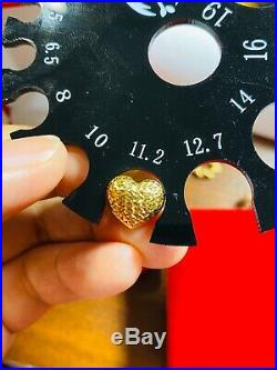 18K Fine 18 750 Yellow Saudi Gold Set Heart Necklace With Earring USA Seller