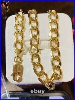 18K Fine 750 MENS WOMEN'S Cuban Saudi Gold Bracelet FITS 8.2 US SELLER 7mm Wide