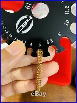 18K Fine 750 MENS WOMEN'S Saudi Gold Bracelet FITS 8 USA SELLER