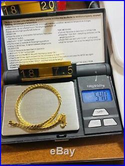 18K Fine 750 Real WOMEN'S Cuban Saudi Gold Bracelet FITS 7.5 USA SELLER 5mm