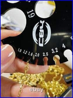 18K Fine 750 Saudi Gold Kids Adult Necklace & Earring 18 Ring 6 1.6mm 6.31g