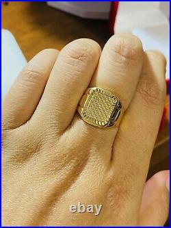 18K Fine 750 Saudi Gold Mens Women's Ring Fits 8.5-9 fast shipping 5.54g