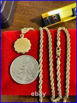 18K Fine 750 Saudi Real UAE Gold 20 Long Womens Angel Set Necklace 3mm 5.0g