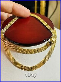 18K Fine 750 Saudi UAE Gold 18 Long Womens Chain Flat Necklace 5.5mm 7.3grams