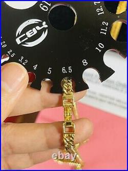 18K Fine 750 Saudi UAE Gold Mens Womens Cuban Chain Necklace 20 Long 6g 12.8g