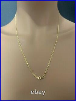 18K Gold Chain Necklace Saudi Real Gold Curb 22 Lightweight Thin Dainty 2.20g