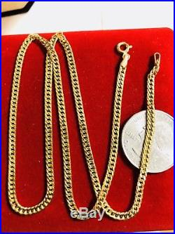 18K Saudi Gold Chain Necklace With 16 Long