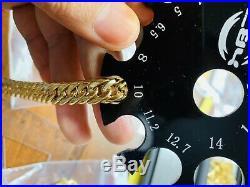 18K Saudi Gold Fine Cuban Bracelet 8 Long