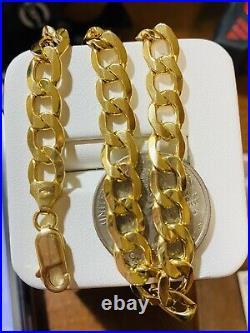 18K Saudi Gold Fine Real 750 MENS WOMEN'S Cuban Bracelet 8.7 long 8mm 10.71g