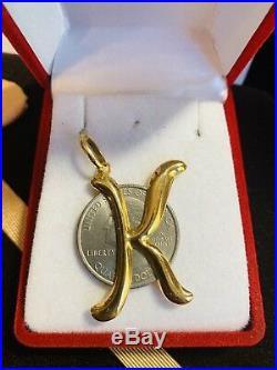 18K Saudi Gold K Pendant