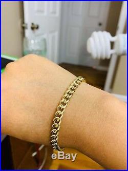 18K Saudi Gold Mens Bracelet 8