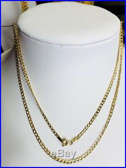 18K Saudi Gold Necklace With 18 Long
