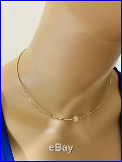 18K Saudi Gold Omega Necklace With 16 Long
