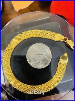 18K Saudi Gold Unisex Bracelet 7.5