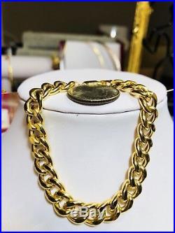 18K Saudi Gold Unisex Bracelet 7.5 long