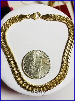 18K Saudi Gold Unisex Bracelet 8 long