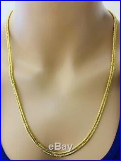 18K Saudi Gold Unisex Chain Necklace With 24 Long