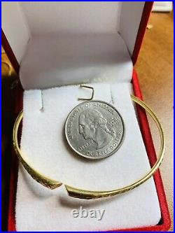 18K Saudi YELLOW Gold Bracelet WOMENS Bangle Free-size SMALL MED LARGE 6.93G