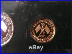 1970 Ajman United Arab Emirates (UAE) Gamal Abdel Nassar Proof Coin Set
