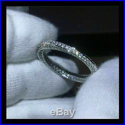 2 carat white diamond 14k white gold eternity womens Wedding anniversary band