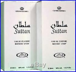 2 x SULTAN Al-Rehab Eau De Natural Perfume Spray 35 ML