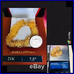21K Gold Fine Coin Bracelet Fits 7.5-8 Will Fits M/L 14mm