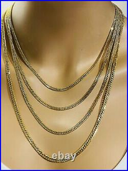 21K Saudi 875 Gold Fine Mens Womens Rope Necklace With 22 Long Chain 4mm 9.8g