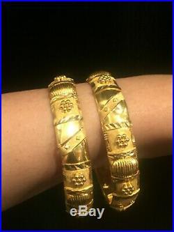 21k(karat)Real Gold Bangles from Dubai (set of 2 Bangles) stamped 21K