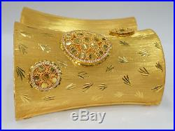 21k solid Gold Bangle, 2.283 inch, stamped, 115.24 grams