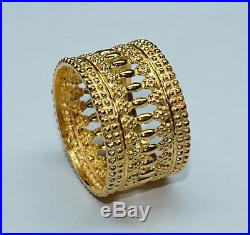 21k solid Gold Ring, stamped, US size no. 5, 2.164 grams