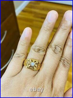 22Ct Saudi 916 Yellow Gold Mens Womens Ring FITS 8.5'- 9 USA SELLER 4.85 grams