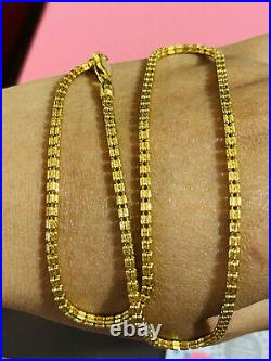 22K 916 Fine Yellow Real Gold 16 Long Womens Chain Necklace 12.79 grams 2.5mm