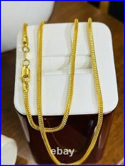 22K 916 Fine Yellow Real Gold 18 Long Womens Snake Chain Necklace 10.6g 2.5mm