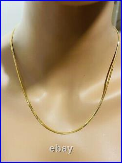22K 916 Fine Yellow Real Gold Womens Snake Chain Necklace 20 Long 6.52g 2.5mm