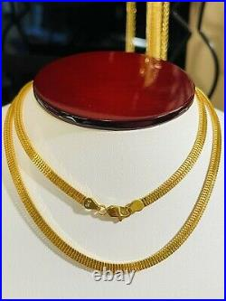 22K 916 Fine Yellow Real Gold Womens Snake Chain Necklace 22 Long 3.5mm 13.26g