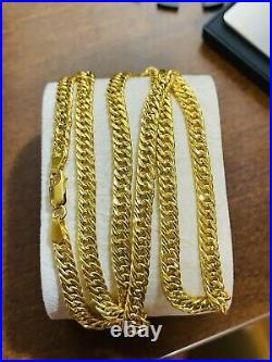 22K 916 Fine Yellow Real UAE Gold 18 long Womens Curb Necklace 12.5grams 5.5mm