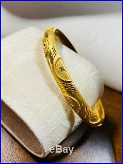 22K 916 Yellow Gold Fine Womens Bangle Fits Small/Med 6-7 8mm USA Seller