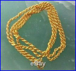 22K 916 Yellow Gold Necklace Link Chain 18.0 1.96g GOLD PRICE UP