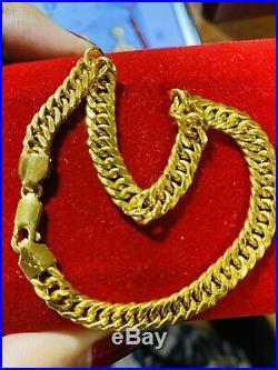 22K Fine 916 Solid Gold Real Curb Mens Womens Bracelet 8 Long 6.5mm USA Seller